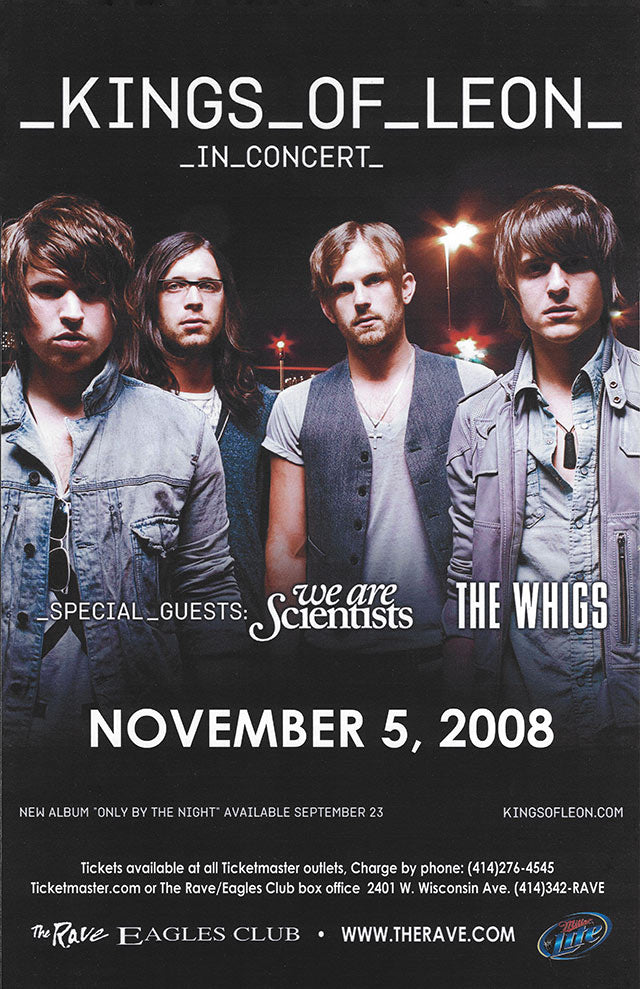 KINGS OF LEON 11/5/2008 Concert Poster