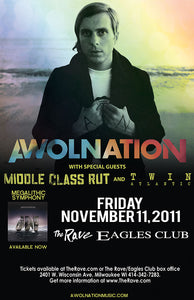 AWOLNATION 11/12/2011 Concert Poster