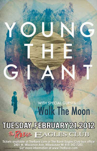 YOUNG THE GIANT 2/21/2012 Concert Poster