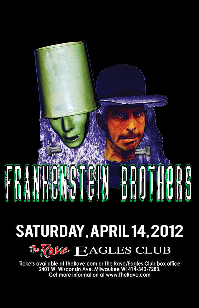 FRANKENSTEIN BROTHERS FEATURING BUCKETHEAD & THAT 1 GUY 4/14/2012 Concert Poster