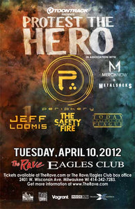 PROTEST THE HERO 4/10/2012 Concert Poster