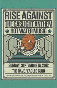 RISE AGAINST 9/16/2012 Concert Poster