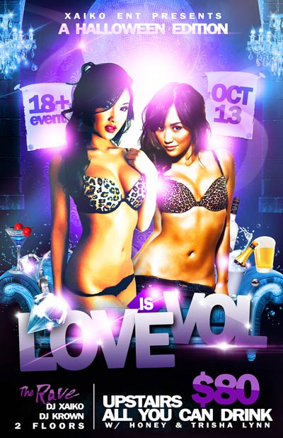LOVE IS EVOL HALLOWEEN EDITION 10/13/2012 Concert Poster