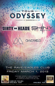 TOUR ODYSSEY WITH THE DIRTY HEADS AND SHINY TOY GUNS 3/1/2013 Concert Poster