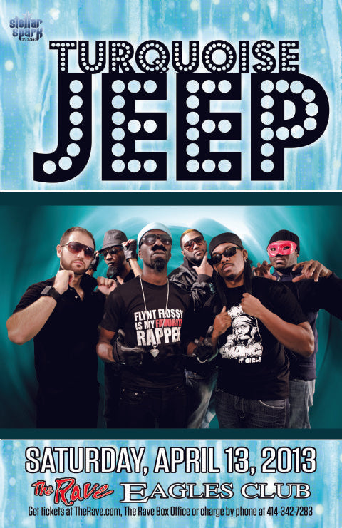 TURQUOISE JEEP 4/13/2013 Concert Poster