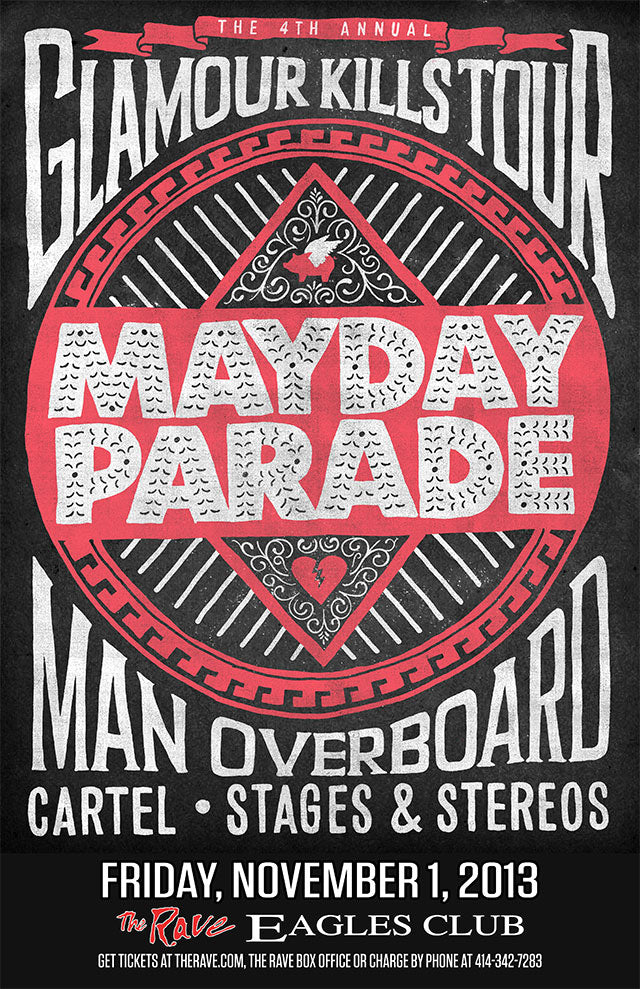 MAYDAY PARADE 11/1/2013 Concert Poster