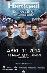 HARDWELL 4/11/2014 Concert Poster
