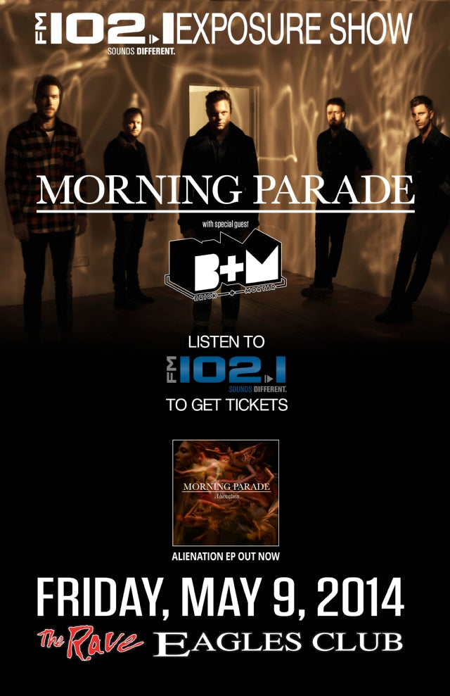 MORNING PARADE 5/9/2014 Concert Poster