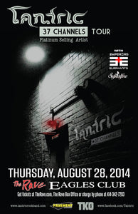TANTRIC 8/28/2014 Concert Poster