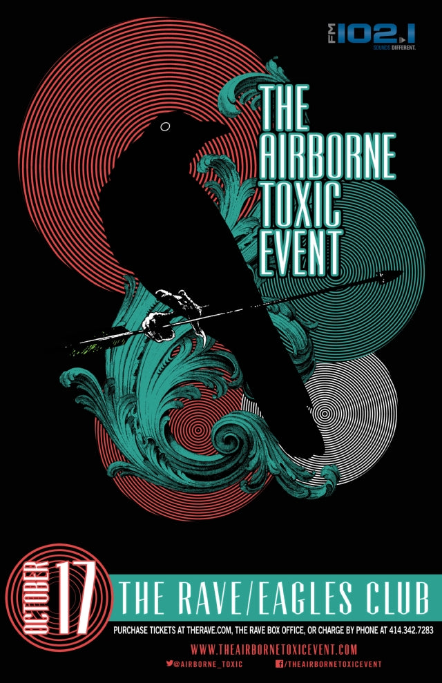 THE AIRBORNE TOXIC EVENT 10/17/2014 Concert Poster