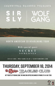 SIR SLY / WOLF GANG 9/18/2014 Concert Poster