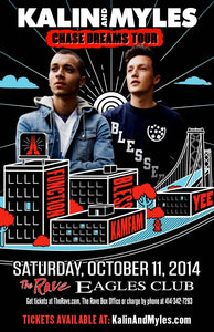 KALIN AND MYLES 10/11/2014 Concert Poster