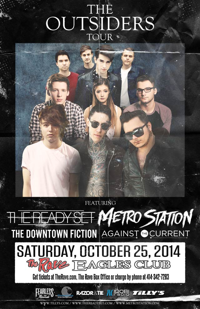 THE READY SET & METRO STATION 10/25/2014 Concert Poster
