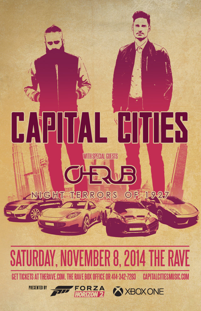 CAPITAL CITIES 11/8/2014 Concert Poster
