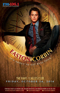 EASTON CORBIN 10/24/2014 Concert Poster