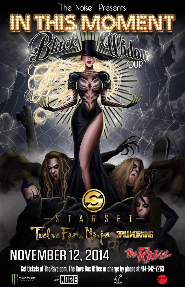 IN THIS MOMENT 11/12/2014 Concert Poster
