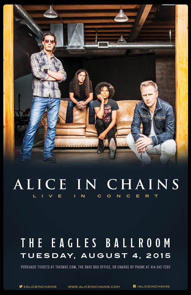 ALICE IN CHAINS 8/4/2015 Concert Poster