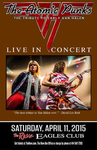 THE ATOMIC PUNKS: THE TRIBUTE TO EARLY VAN HALEN 4/11/2015 Concert Poster