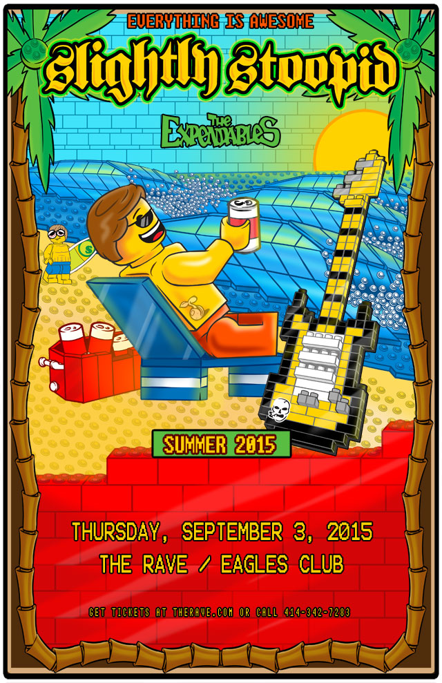 SLIGHTLY STOOPID 9/3/2015 Concert Poster