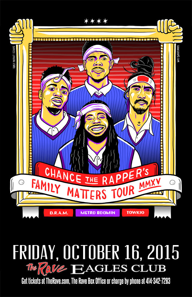 CHANCE THE RAPPER 10/16/2015 Concert Poster