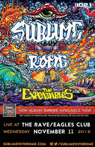 SUBLIME WITH ROME 11/11/2015 Concert Poster