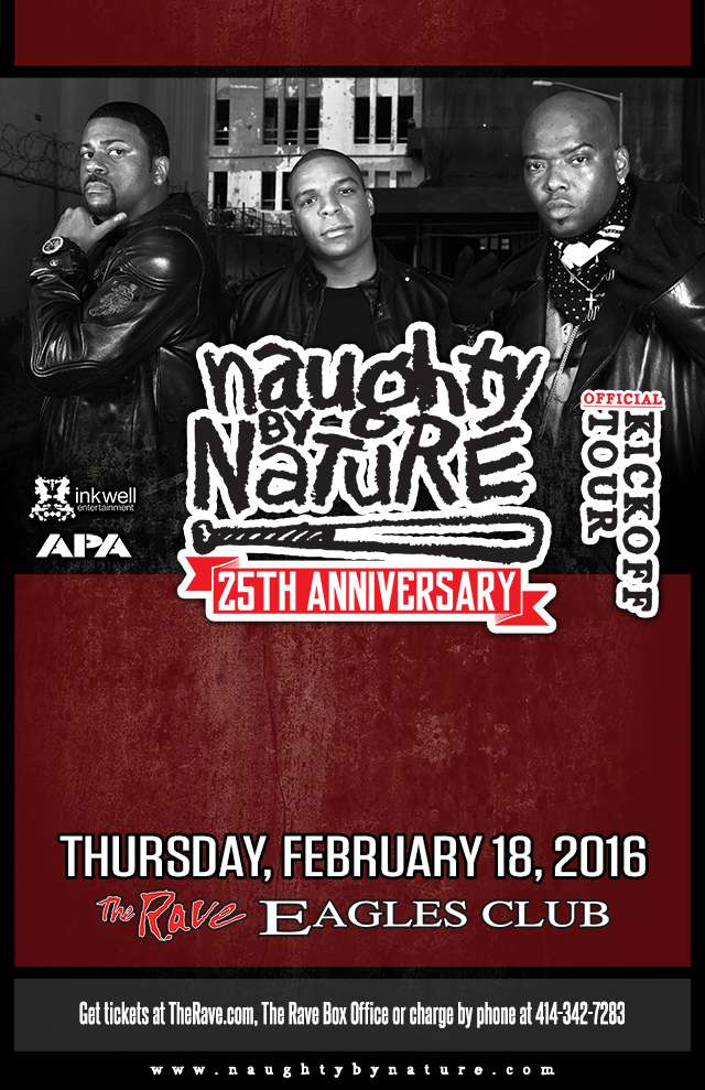 NAUGHTY BY NATURE 2/18/2016 Concert Poster