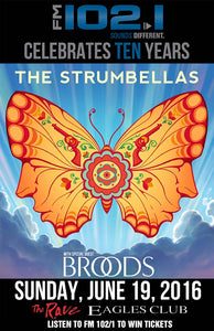 THE STRUMBELLAS 6/19/2016 Concert Poster