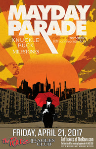 MAYDAY PARADE 4/21/2017 Concert Poster