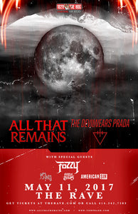 ALL THAT REMAINS & THE DEVIL WEARS PRADA 5/11/2017 Concert Poster