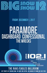 PARAMORE  12/1/2017 Concert Poster
