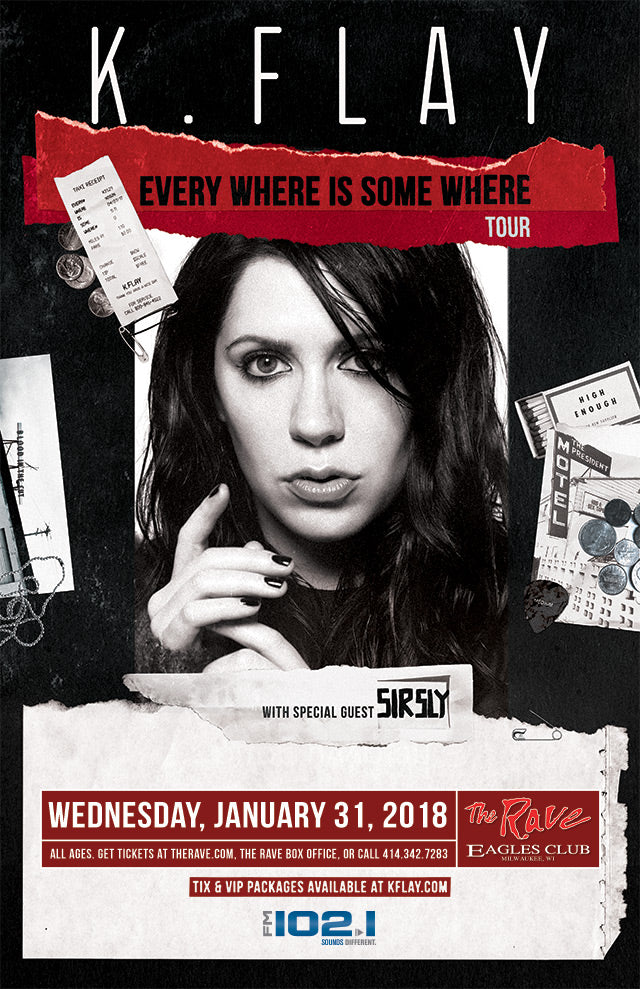 K.FLAY 1/31/2018 Concert Poster