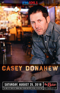 CASEY DONAHEW 8/25/2018 Concert Poster