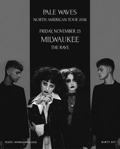 PALE WAVES 11/23/2018 Concert Poster