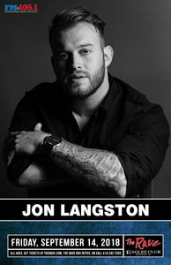JON LANGSTON 9/14/2018 Concert Poster