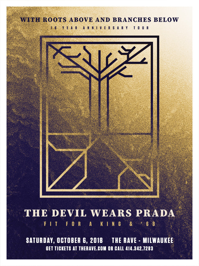 THE DEVIL WEARS PRADA 10/6/2018 Concert Poster