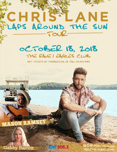 CHRIS LANE 10/18/2018 Concert Poster