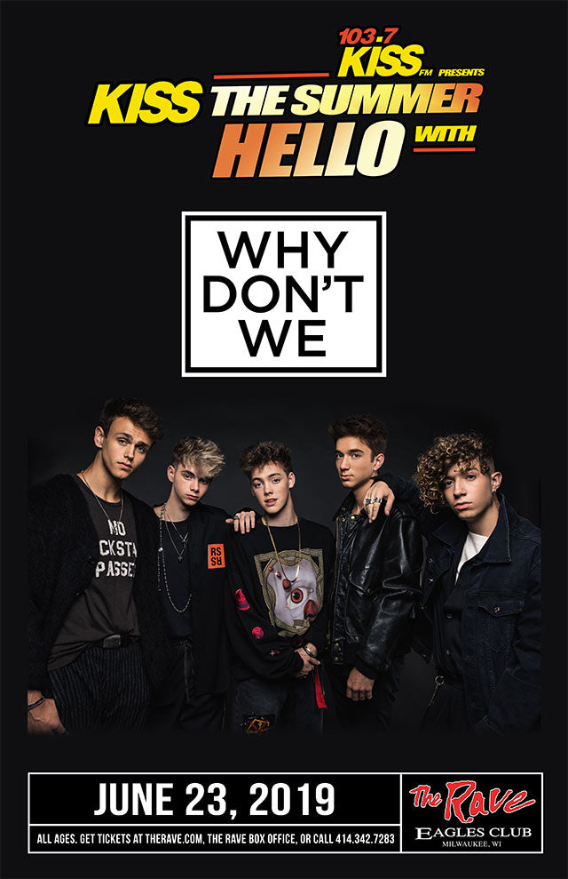 WHY DON'T WE 6/23/2019 Concert Poster