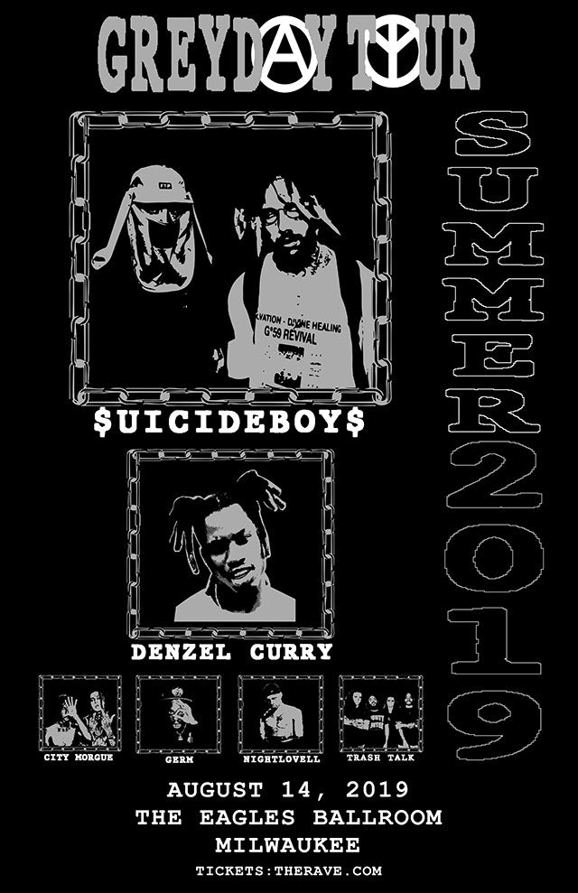 $UICIDEBOY$ 8/14/2019 Concert Poster