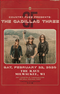 THE CADILLAC THREE 2/22/2020 Concert Poster