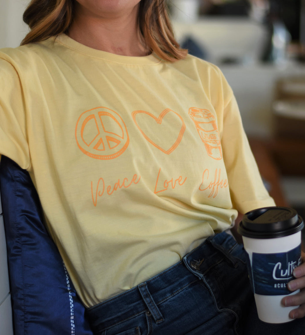 Peace, Love, Coffee Shirt