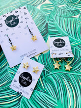 Load image into Gallery viewer, Small Gold Glitter Star Stud Earrings