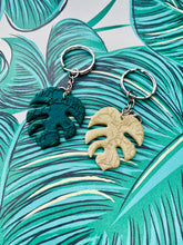 Load image into Gallery viewer, Green Glitter Initial Keyring