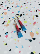 Load image into Gallery viewer, Small Slushie Ditzy Leopard Ombre Trapeze Dangle Earrings