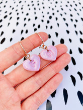 Load image into Gallery viewer, Small Personalised Initial Glitter Word Play Heart/Cat Studs