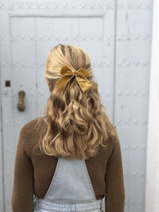 Barette cheveux fille moutarde