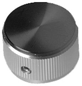 "22-1579-RSG - Knob 1"" Alum/Black Face"