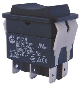 "29FG29-RSG - Rocker Switch, DPDT, Number Of Connections: 6, Terminals: 0.250"" Quick Connect Tab"