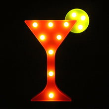 Load image into Gallery viewer, Cocktail Marquee Light
