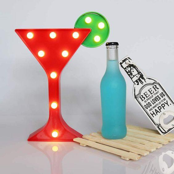 Cocktail Marquee Light