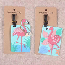 Load image into Gallery viewer, Flamingo Luggage Tag - TinyMinyMo
